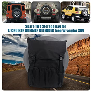 Amazon.es: Bolsa de almacenamiento de mochila para SUV, organizador de maletero plegable para neumáticos de repuesto de 76, 2 cm a 83, 8 cm de diámetro