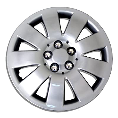 TuningPros WC-17-721-S 17-Inches-Silver Improved Hubcaps Wheel Skin Cover Set of 4: Automotive
