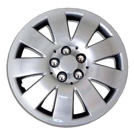 tuningpros estilo # 721 Tapacubos rueda piel funda plata ...