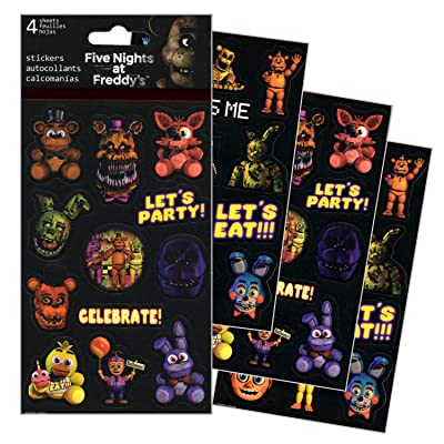 Five Nights At Freddy's Stickers - 4 Sheets of Stickers: Toys & Games