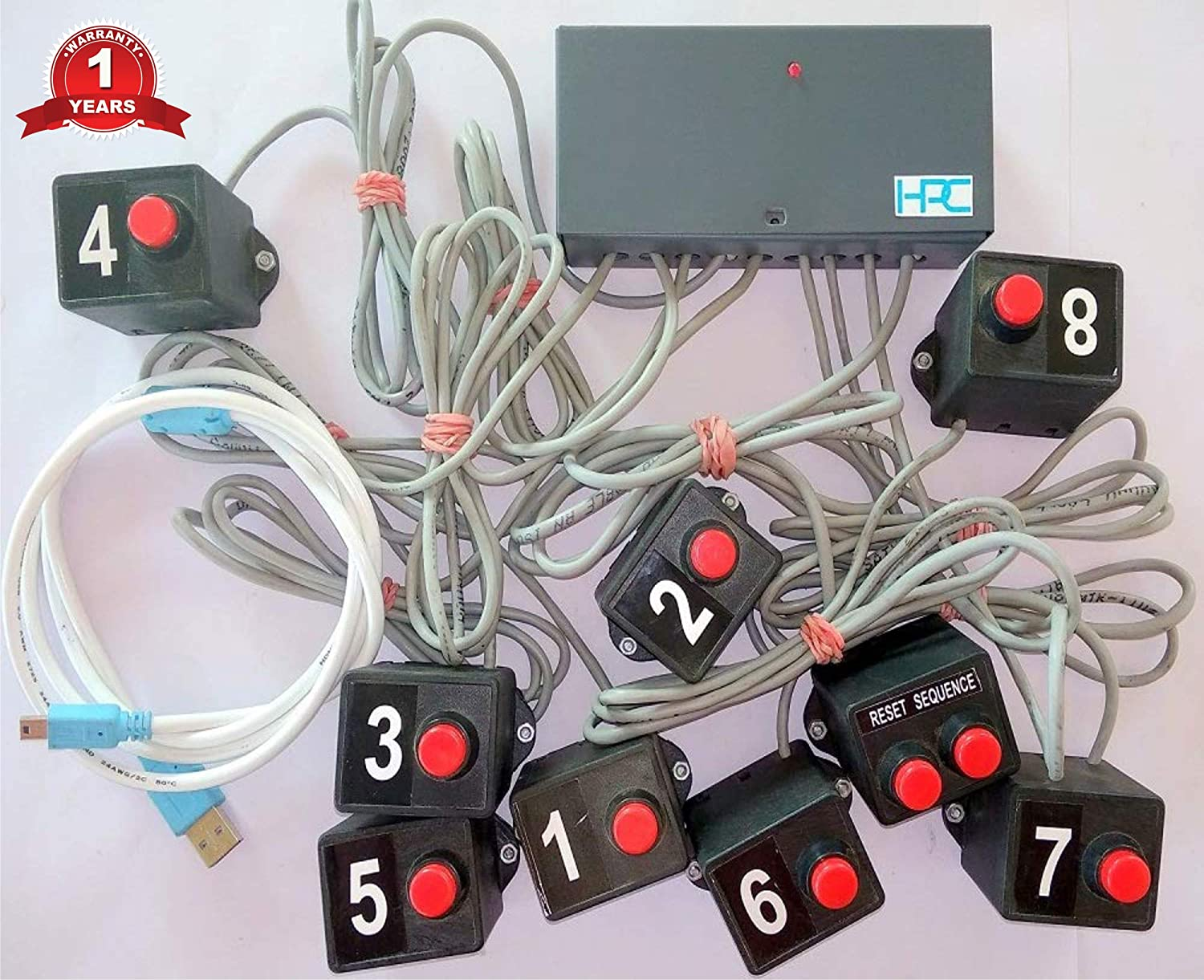 Swell Buy 8 Player Quiz Game Buzzer System With 25 Ft Wires And Windows Wiring Cloud Hisonuggs Outletorg