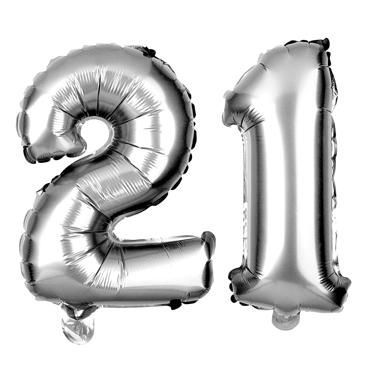 Amazon Ella Celebration 21 Party Balloons For 21st Birthday Decoration Ideas And Supplies 40 Inch Silver Health Personal Care
