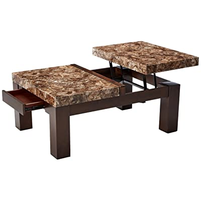 Incroyable Ashley Furniture Signature Design   Kraleene Coffee Table   Cocktail Height    Rectangular   Dark Brown