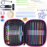 Crochet Hook Set 100pcs With Yarn Knitting Needles Sewing Tools Full Set Knit Gauge Scissors Stitch Holders DIY Craft Tools