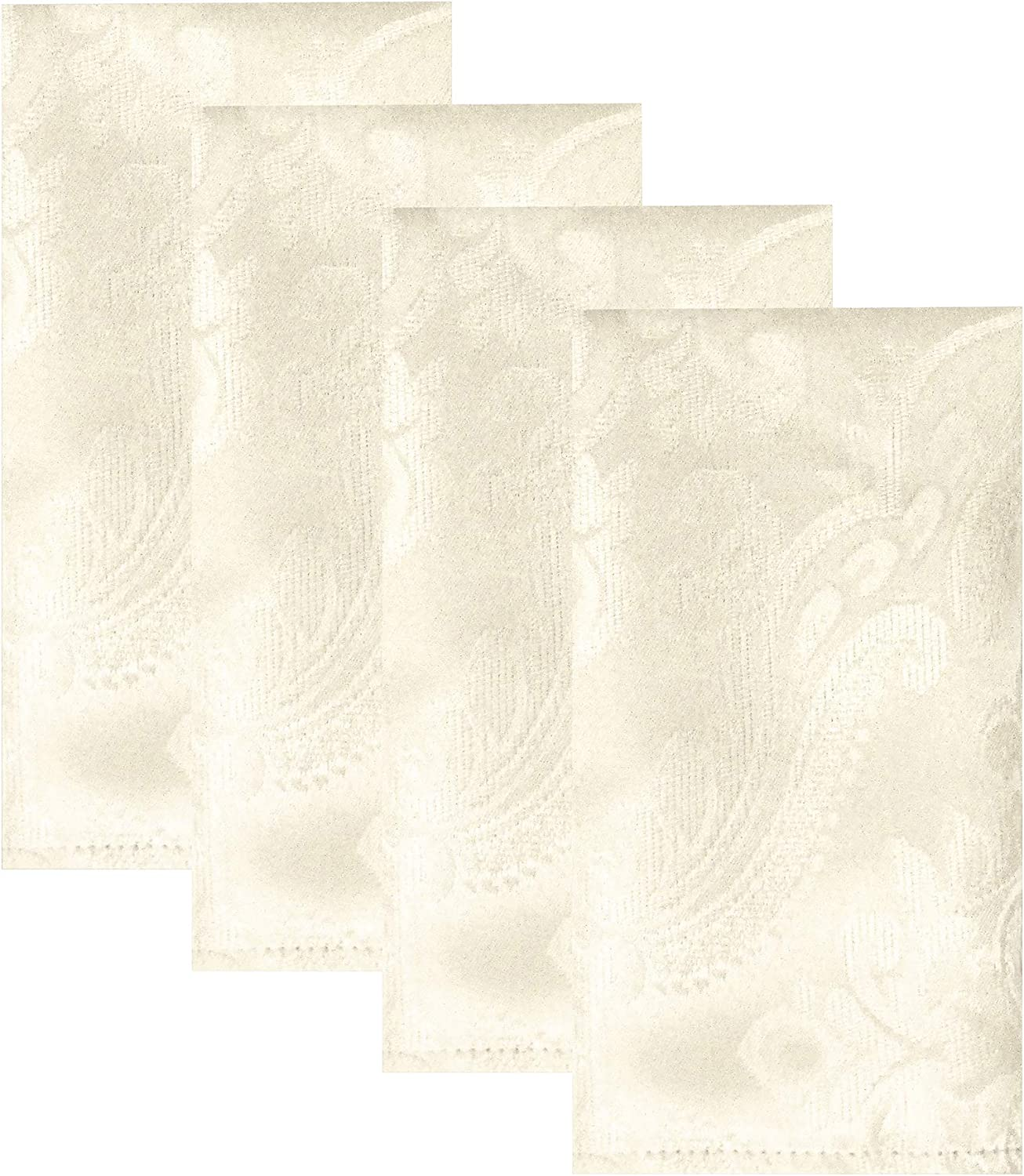Elrene Home Fashions Caiden Elegance Damask Napkin Set of 4, 17