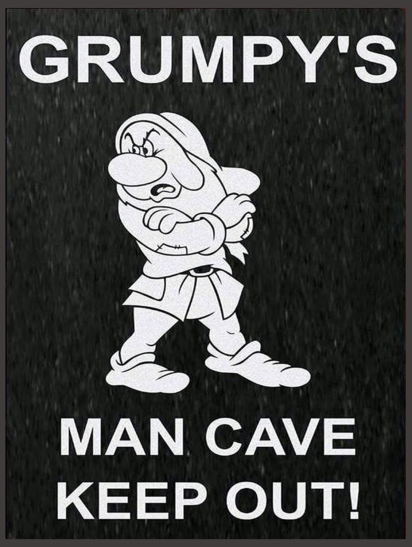 "Retro metal Sign//Plaque Gift 10/"" x 8/"" Large Grumpy/'s Man Cave"