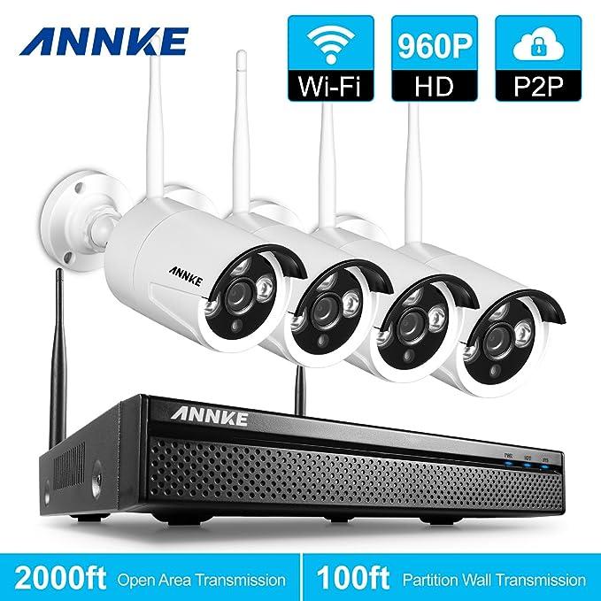 18 opinioni per ANNKE Kit Sorveglianza wifi NVR 1080P 4 Canali 4 IP Telecamera Sorveglianza 960P
