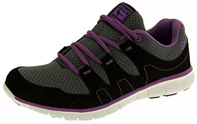 83279a363568 Womens Gola Active Fitness Training Shoes Flats Casual Exercise Running  Trainers Grey Purple Size 8