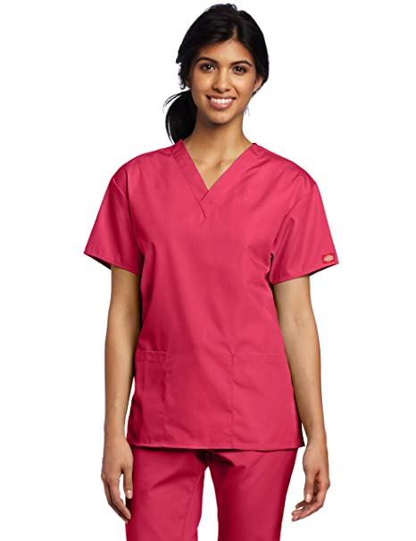bf3696e898e Amazon.com: Dickies Scrubs Women's Classic V-Neck Top: Medical ...