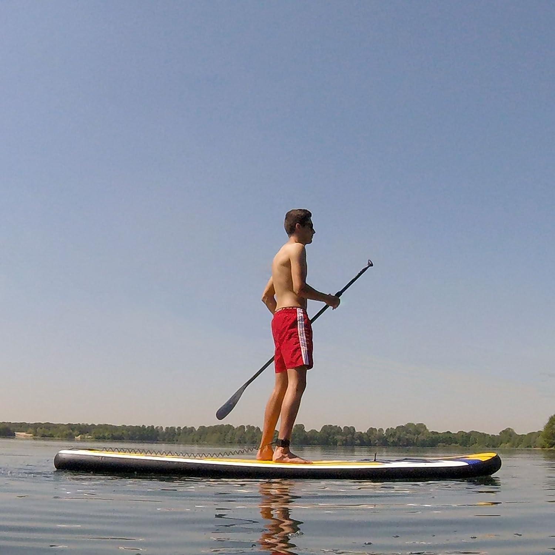 ToCi Standup paddeling tarjeta | hinchable Tabla de Surf | con mochila de transporte y remo telescópico, incluye bomba, M - 235 cm: Amazon.es: Deportes y ...