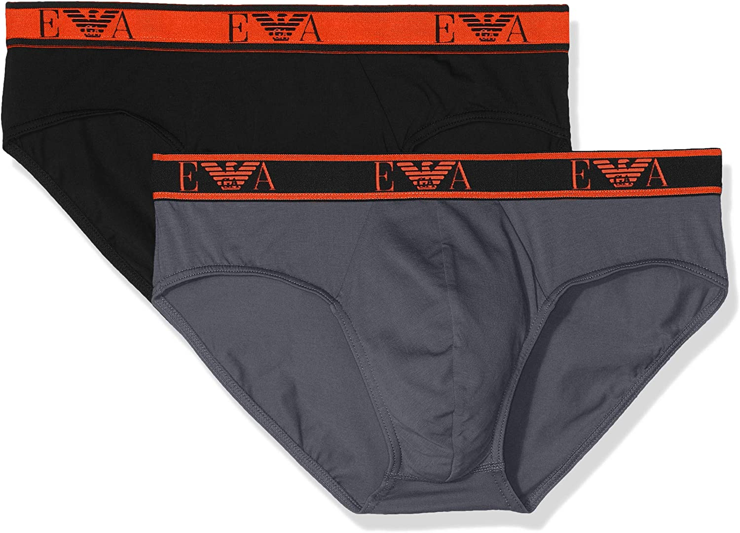 Emporio Armani Men's Monogram 2-Pack Brief