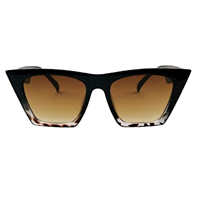ad94ab8d650 Image Unavailable. Anca Collection - ELLA - Womens Cat Eye Rectangle Square  Cat Eye Black Leopard Tortoise Shell