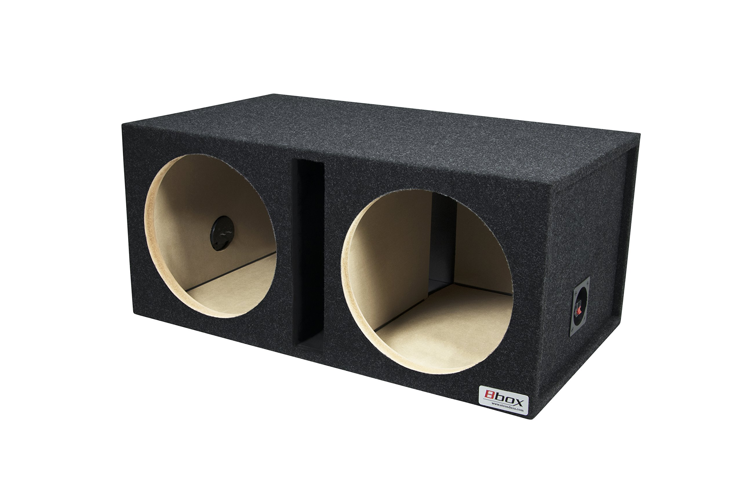 Bbox E12DSV Dual 12'' Shared Vented Carpeted Subwoofer Enclosure by Atrend