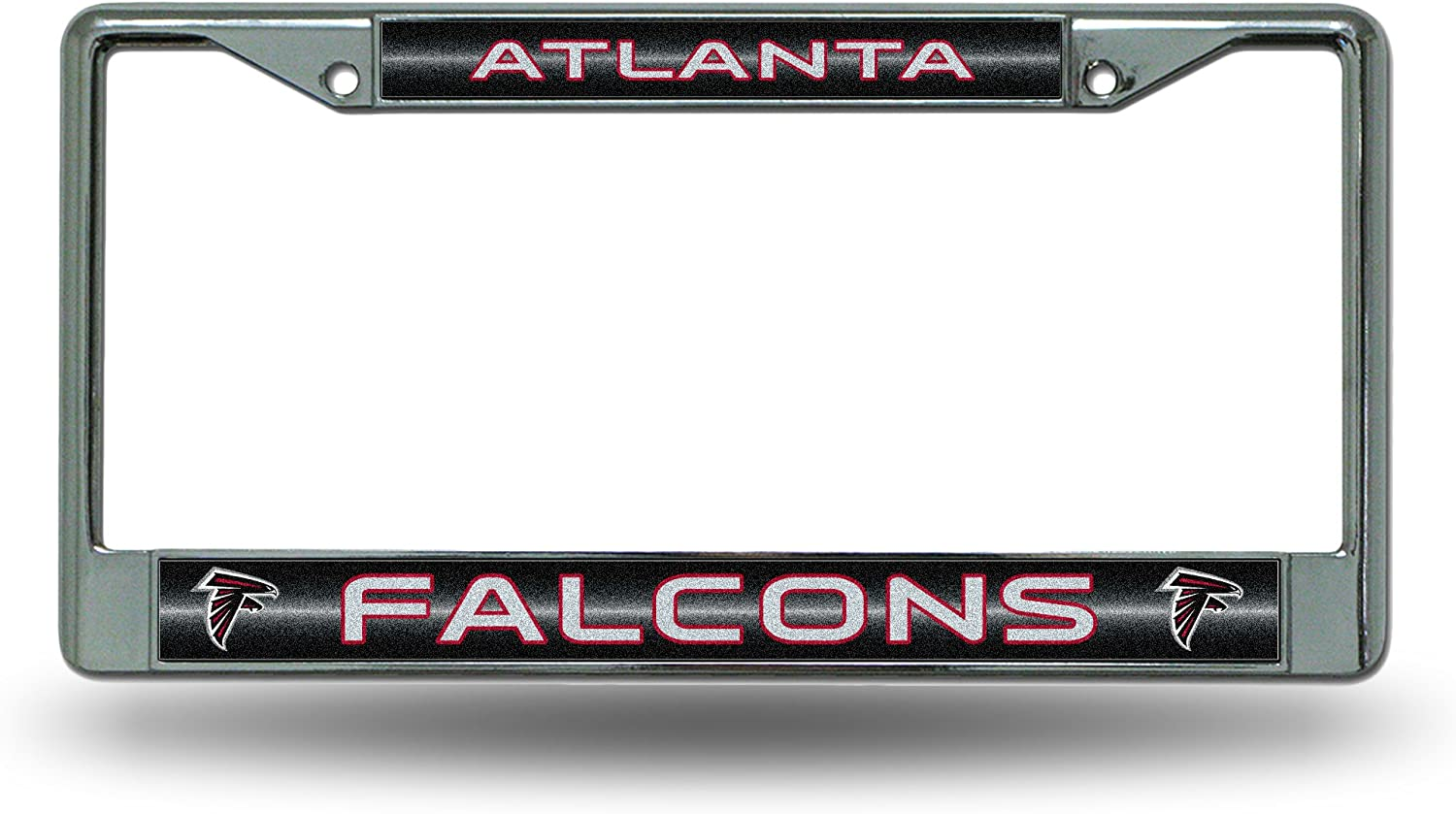 NFL Atlanta Falcons License Plate Frame with Glitter Accent