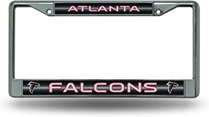 Auto Accessory Chrome License Plate Frame Life Is Good When The Falcons Win