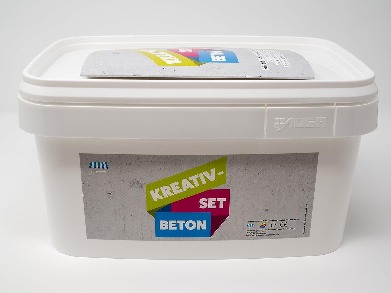 Elibrero Kreativ-Set Beton 10 kg | Feinbeton zum Gießen und Basteln ...