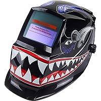 OHMOTOR Casco de Soldadura, Máscara de Soldadura con Sombra Ajustable para certificación MIG TIG ARC CE