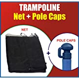 """Super Net & Pole Cap Set"" Fits For Round Trampoline Frames Using Straight Poles"