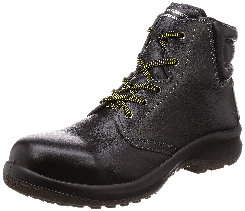 [ミドリ安全] 静電安全靴 JIS規格 中編上靴 プレミアムコンフォート B0761KVJQG 28.0 cm 3E|ブラック