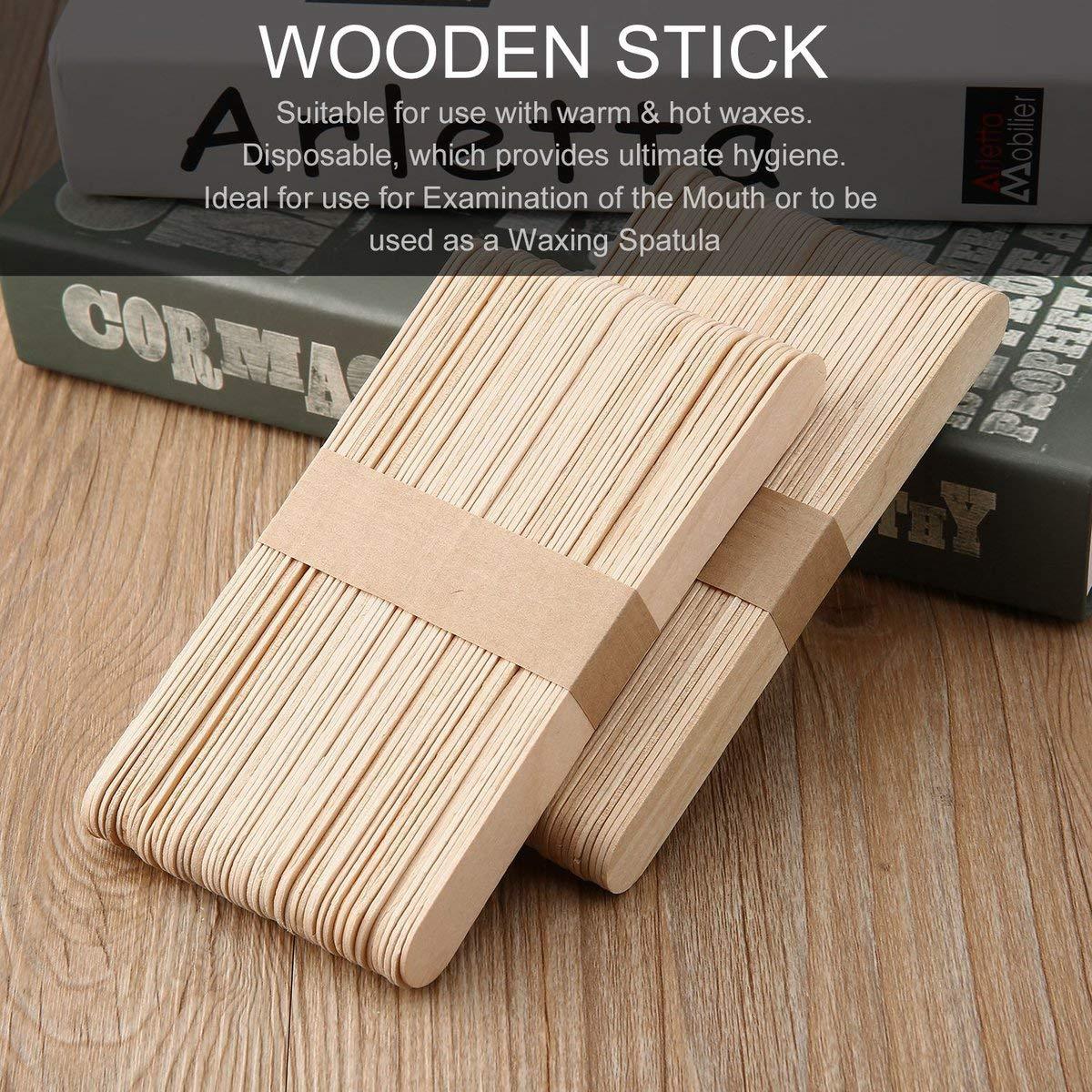 100pcs set Holzspatel Waxing Wax Spatel medizinische Einweg Bambus-Sticks of Health Wood Beauty-Stick
