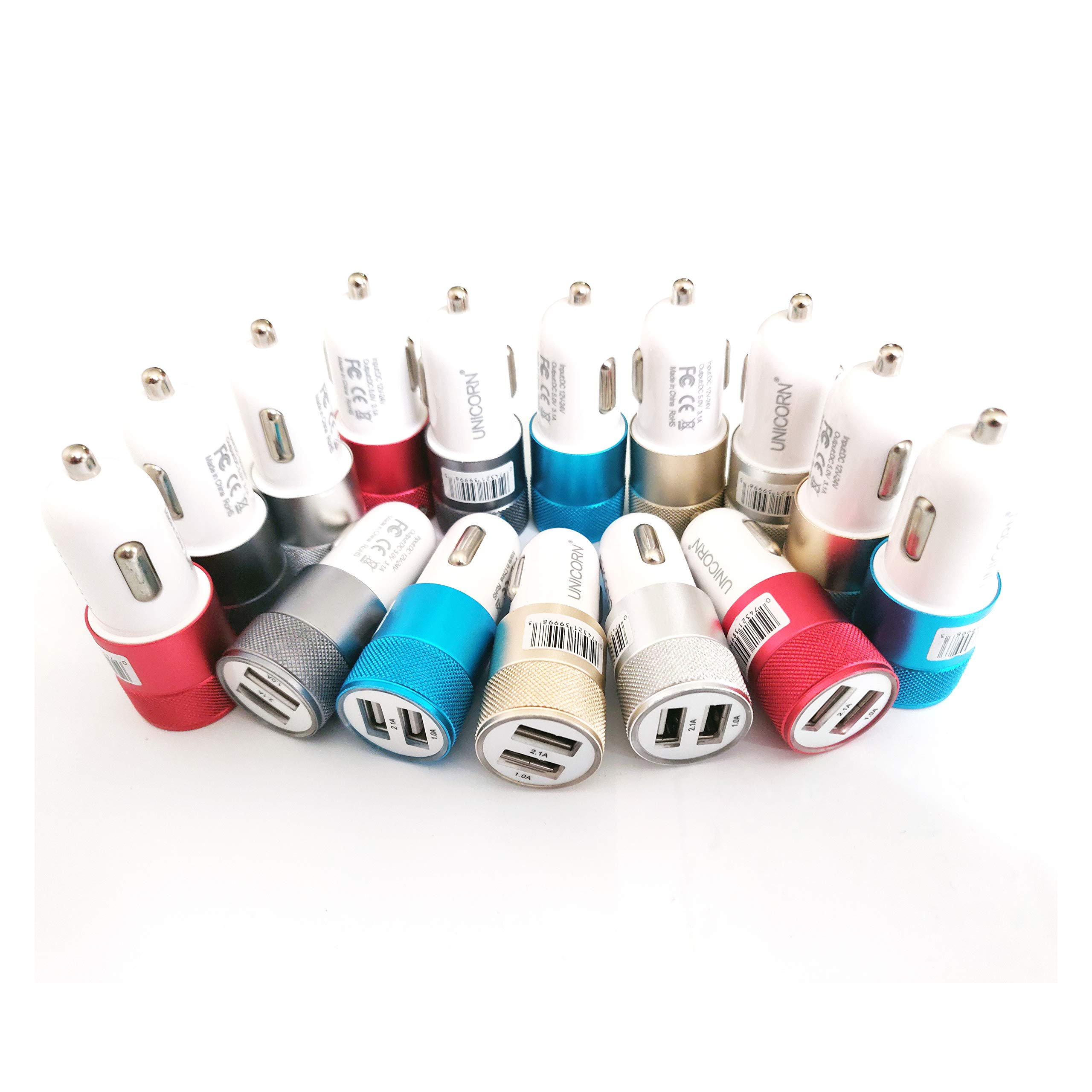 USB Car Charger Dual Port Fast Charge Bulk Lot Wholesale Chargers by UNiCORN Trade (50 Packs) by Unicorn Trade