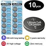 CELEWELL 10pcs Bulk CR2450 3V Lithium Battery for Candles Remotes( not CR2450N ) Exp 2020