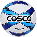 Cosco Milano Foot Ball, Size 5 (White/Blue/Black)