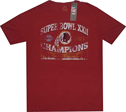 Washington Redskins Throwback Super Bowl 22 Champions Vintage Slim Fit T  Shirt (Medium) 4440652f9