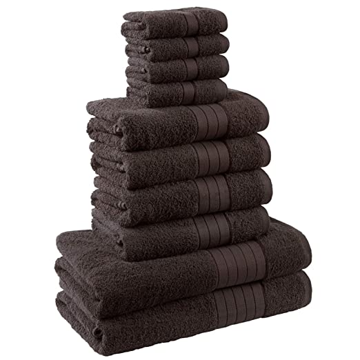 Dreamscene Luxury Supersoft 6 Piece Hand Bath Towel Bale 100/% Egyptian Cotton Purple
