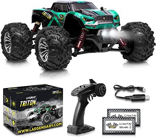 Amazon Com 1 20 Scale Rc Cars 30 Kmh High Speed Boys Remote Control Car 4x4 Off Road Monster Truck Electric 4wd All Terrain Waterproof Toys Trucks For Kids And Adults
