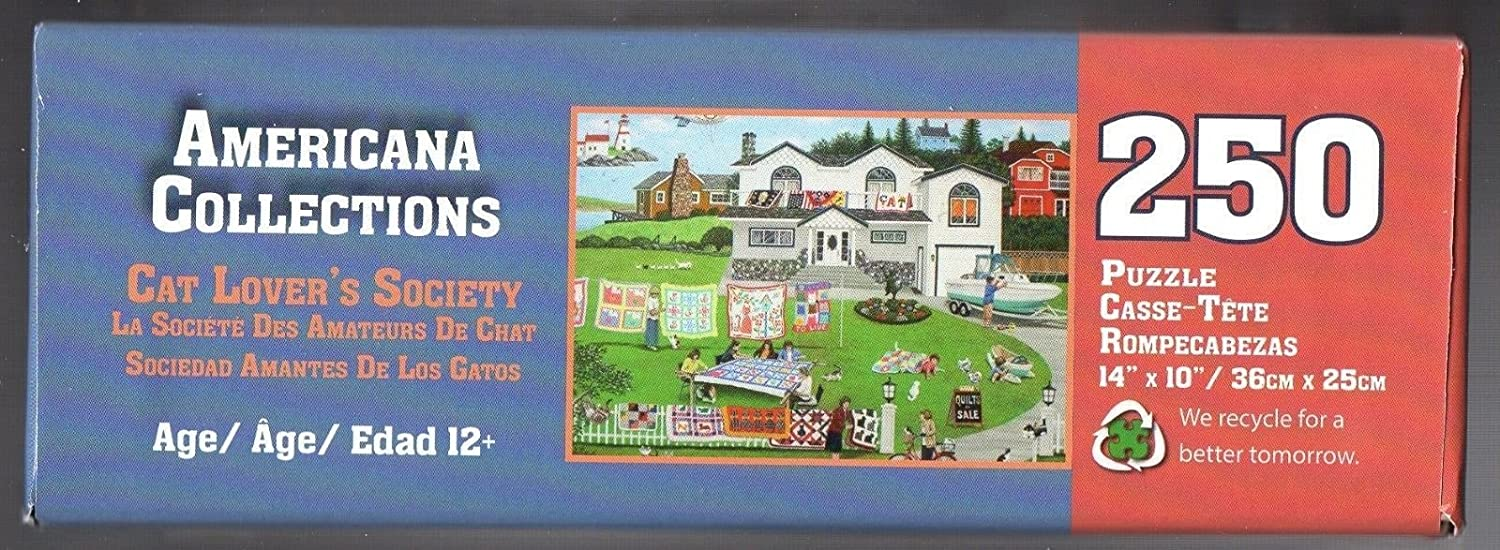 Amazon.com: Qiyun Americana Collections Puzzle Cat Lover¡¯s Society Quilts 250 Pcs: Toys & Games