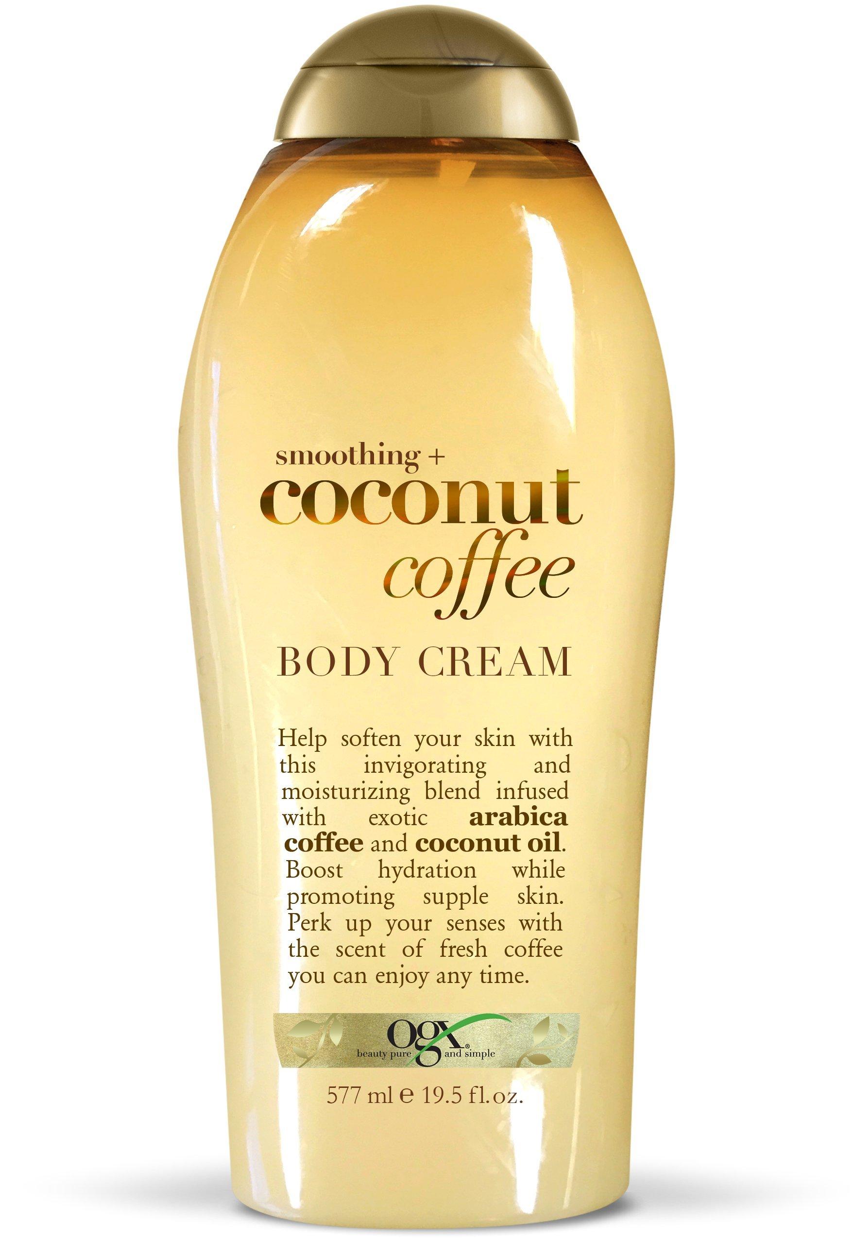 OGX Coconut Coffee Body Cream, 19.5 Ounce