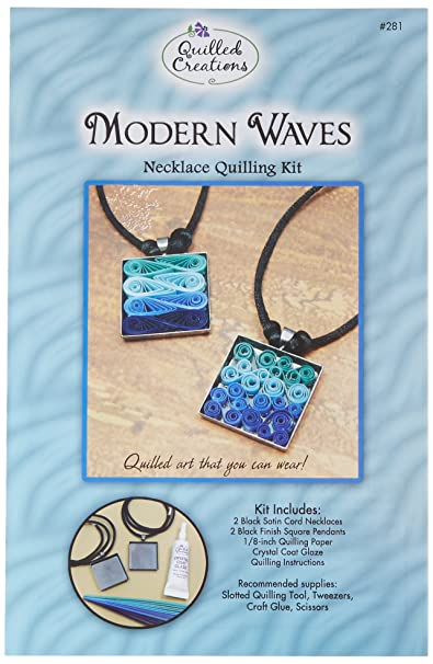 Quilled Creations Paper Quilling Kit Modern Waves Necklace Amazon