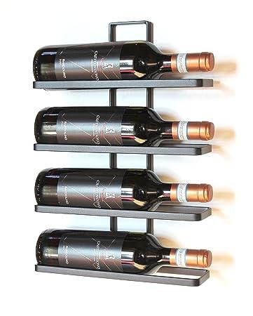 Amazoncom Dandibo Wine Rack Wall Mounted Metal Black 4 Wine