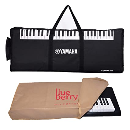 Yamaha 61 Keys Gig Bag with Blueberry Dust cover Compatible With Yamaha PSR-E263 Keyboard (Black)