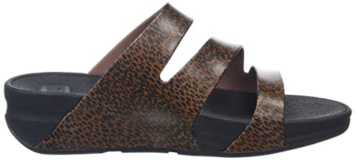 FitFlop Superjelly Leopard, Damen Sandalen, Braun, 42 EU