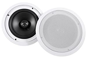 "Pair Rockville HC85 8"" Inch 700 Watt in-Ceiling Home Theater Speakers 8 Ohm"