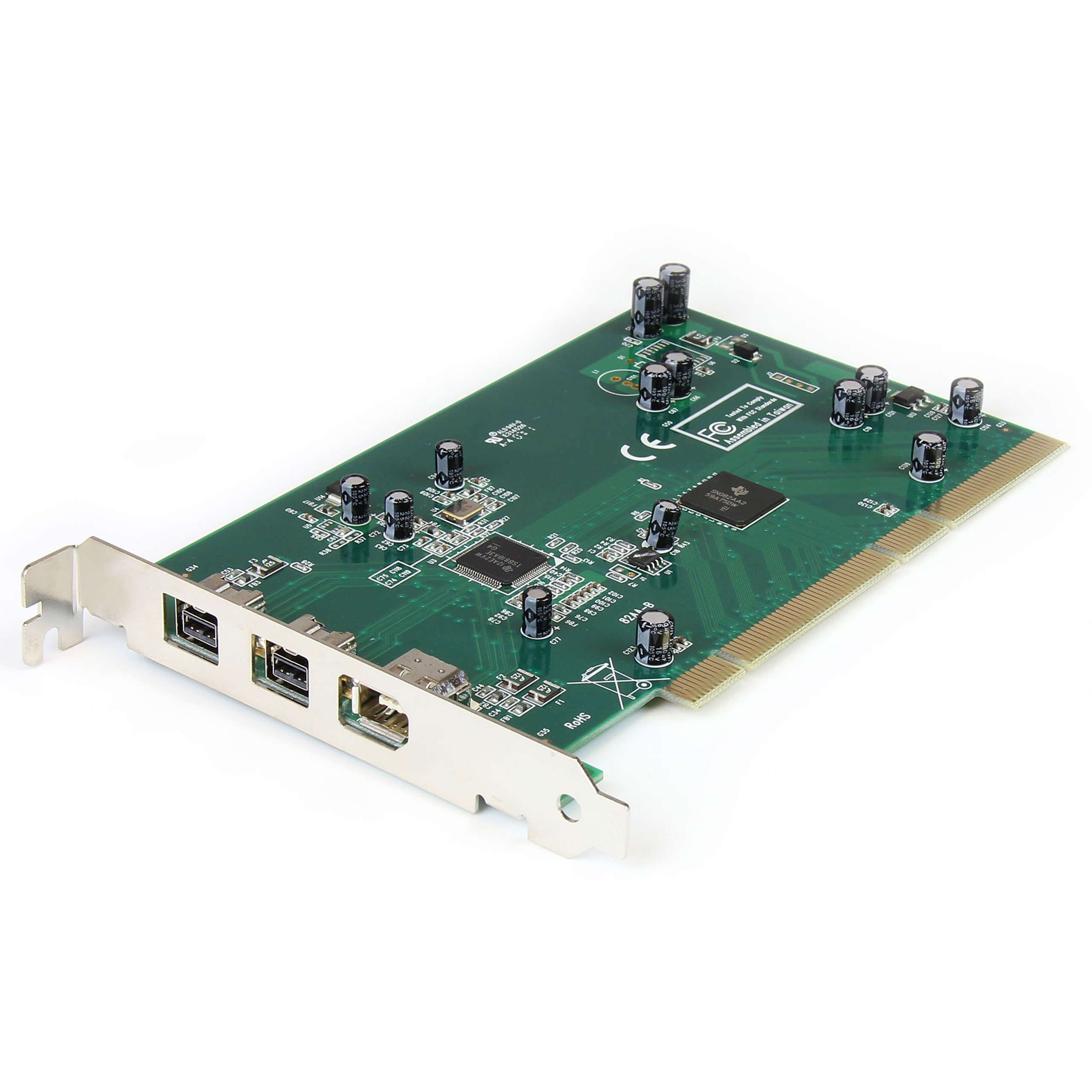 3 Port 2b 1a PCI 1394b FireWire Adapter Card with DV Editing