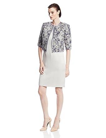 66d47090 Fabiola Arias Women's Allover Petal Jacket with Swarovski Crystals at Amazon  Women's Clothing store: