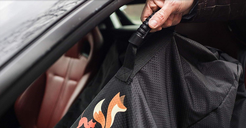 Baby-Autositz-Tasche Schwarz Kinderwagen-Tragetasche und Gate-Check-Tasche mit Ausweishalter-Fu/ßballmuster