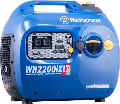 Westinghouse WH2200iXLT Super Quiet Portable Inverter Generator 1800 Rated & 2200 Peak Watts