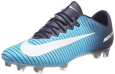 NIKE Mens Mercurial Vapor XI FG Soccer Cleat (Sz. 7) Gamma Blue,