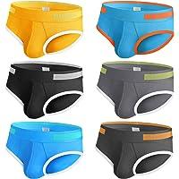 Rovtop 6 Ropa Interior Masculina-Algodón Puro, Cintura Baja, Ropa Interior Cómoda y Suave, Una Variedad de Colores…