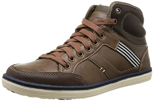 Skechers Sorino Lozano, Men Low-Top, Brown (Brn), 5.5 UK