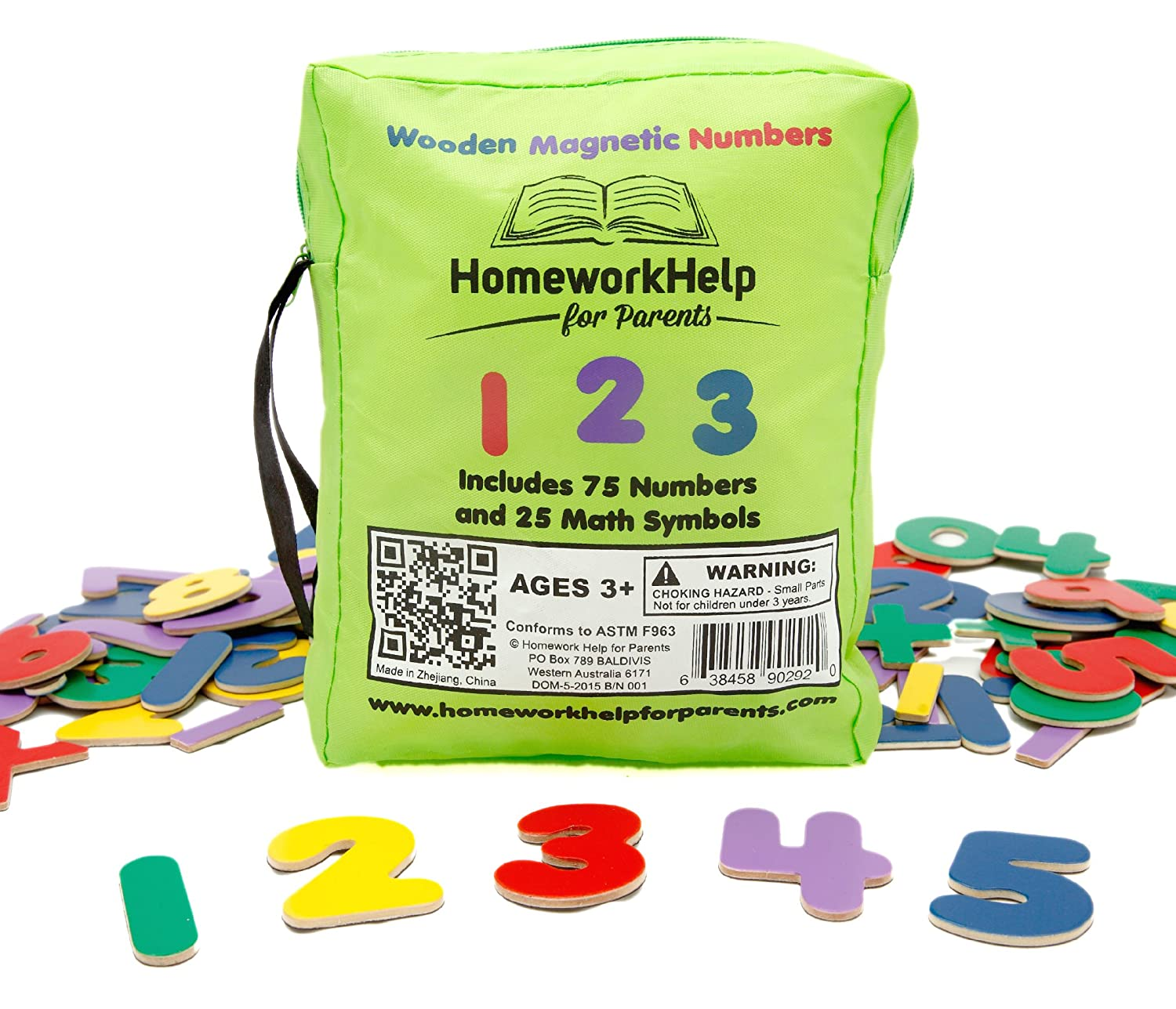 Amazon Classic Collection Of Wooden Magnetic Numbers Math