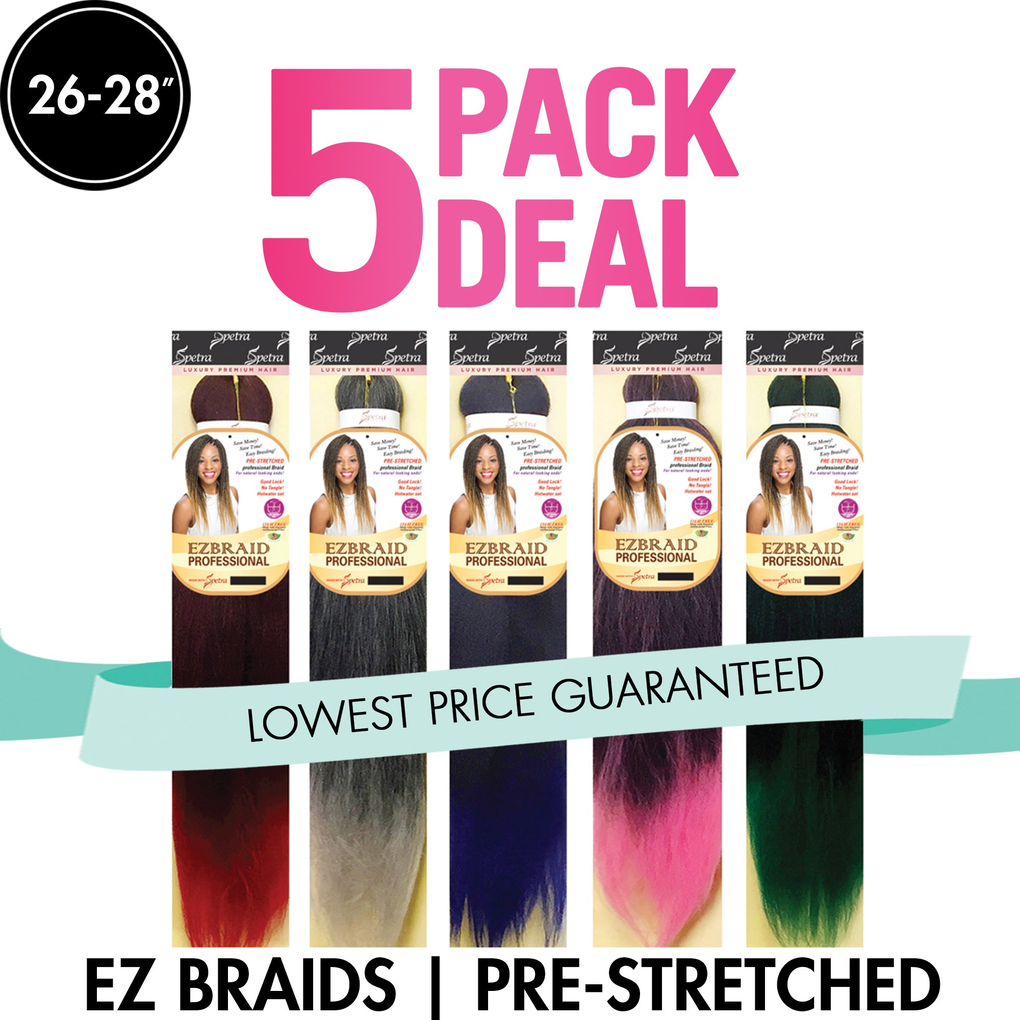 Spetra Innocence EZ Braid Professional (Pre-Stretched Braid) 26'' 5 Pack (Color: 99J) by Innocence (Image #1)