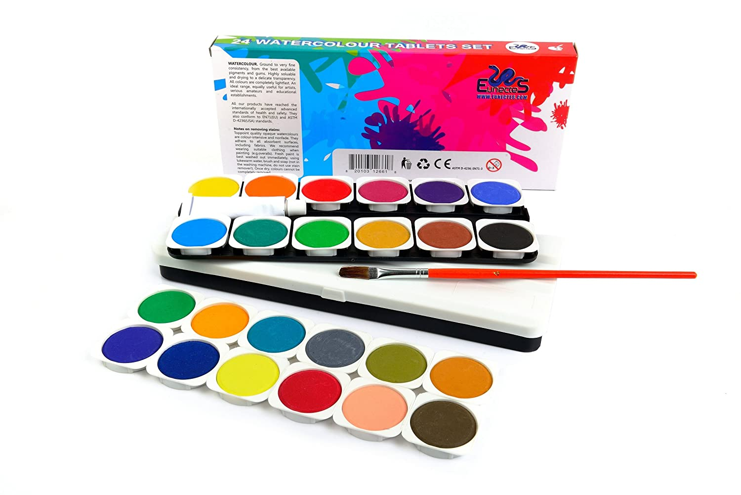 Watercolor artist magazine customer service - Amazon Com Watercolor Paint Set Best Artist Kit Of 24 Color Paint For Kids Adults Beginners And Professionals Extra Light Travel Case Brush In The