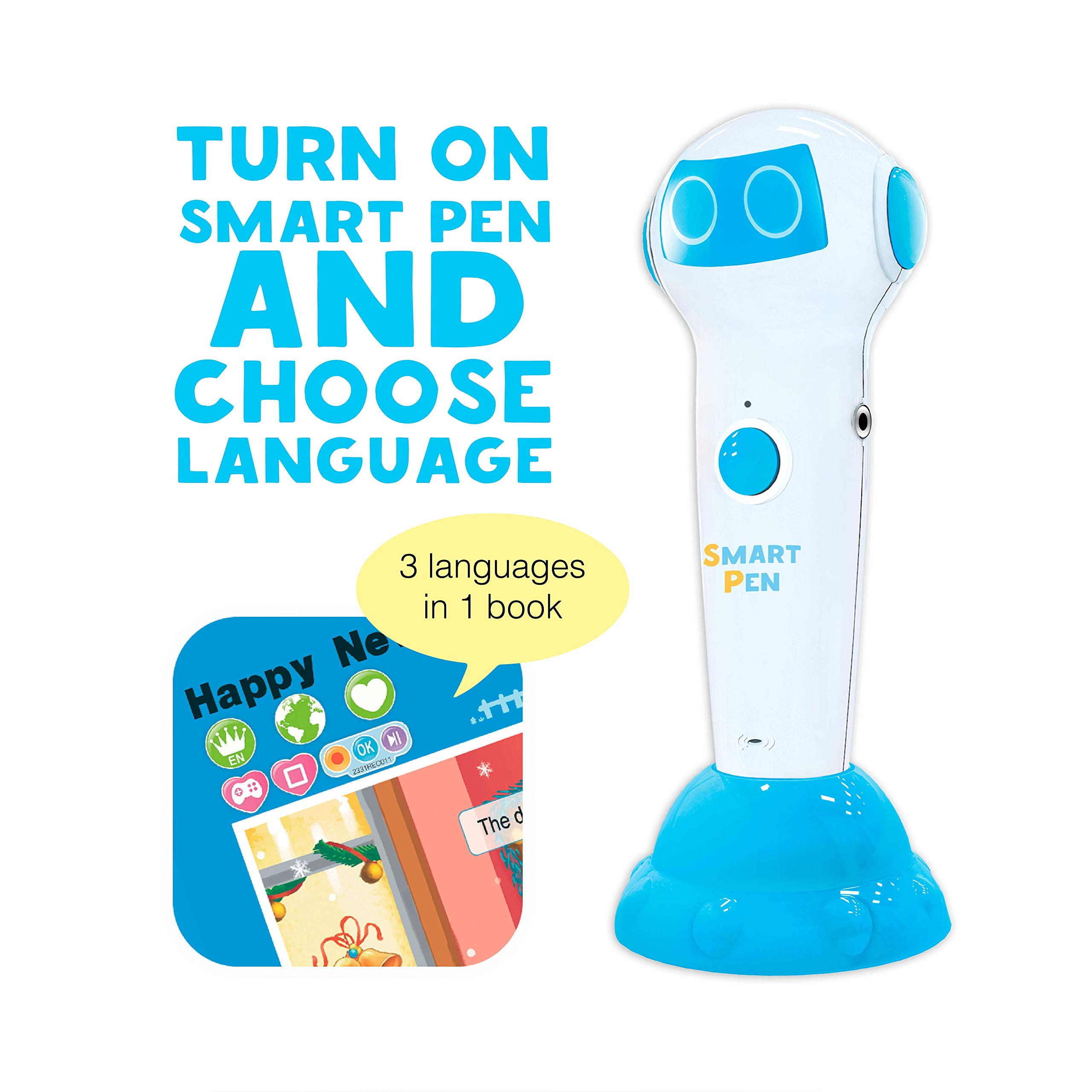 Talking Pen + 3 Fairy Tales Bundle (Pinocchio, Cinderella, Red Hood). The most Entertaining Books for learning Reading and Spelling Skills. English and foreign Languages (Spanish, German for free) by Smart Koala (Image #6)