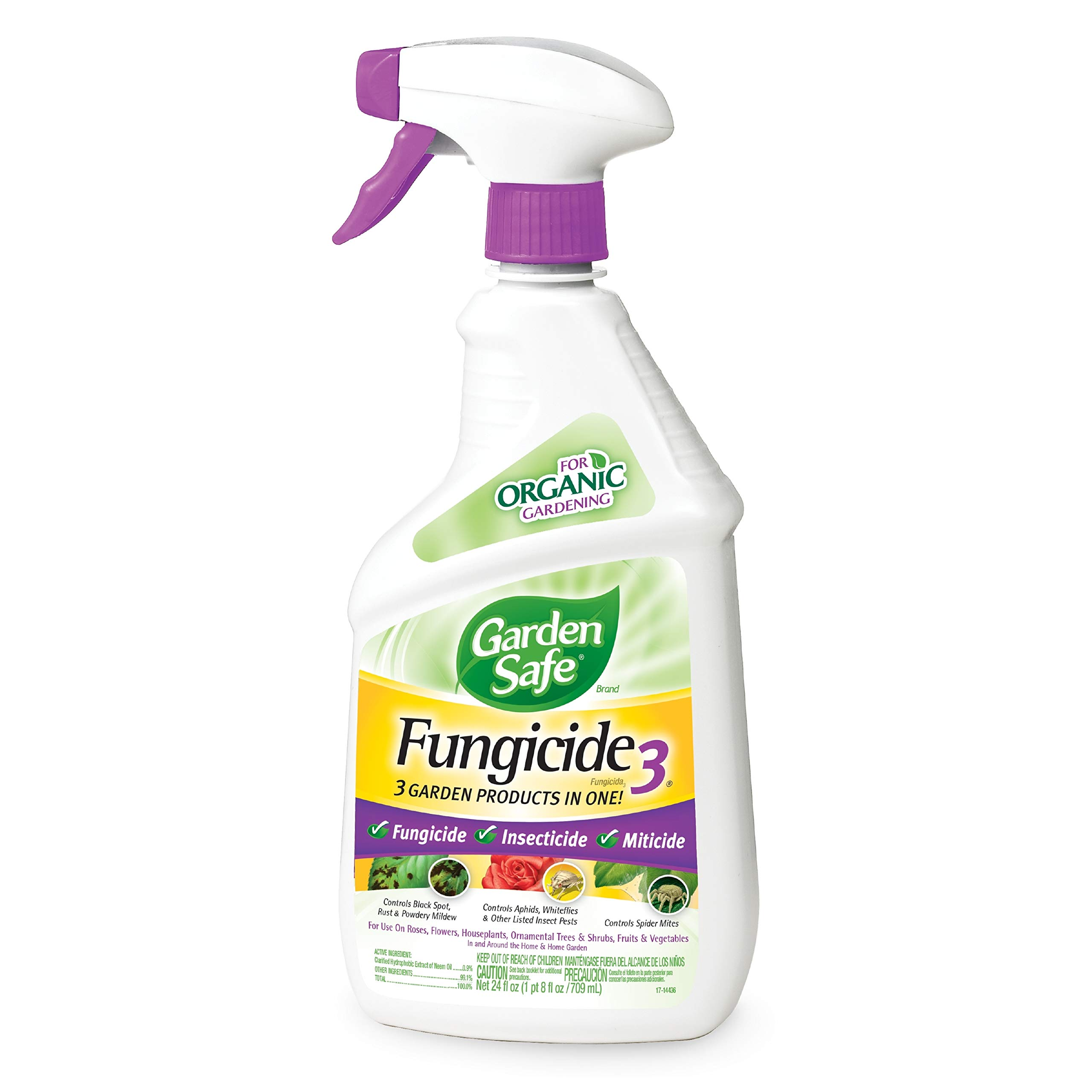 Garden Safe Brand Fungicide3, Ready-to-Use, 24-Ounce, 6-Pack by Garden Safe