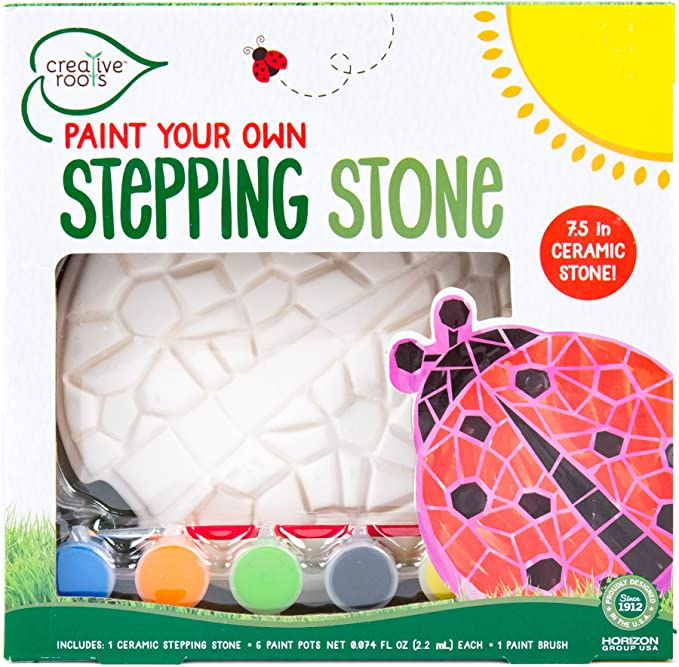 CREATIVE ROOTS Paint Your Own Heart Stepping Stone by Horizon Group USA